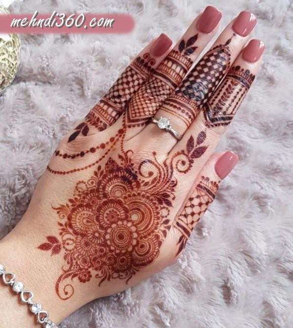 Arabic Back Hand Mehndi Design