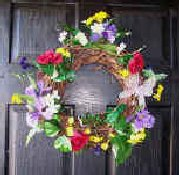 Frugal Homemade Crafts at BetterBudgeting: How to Make Spring Door Wreaths