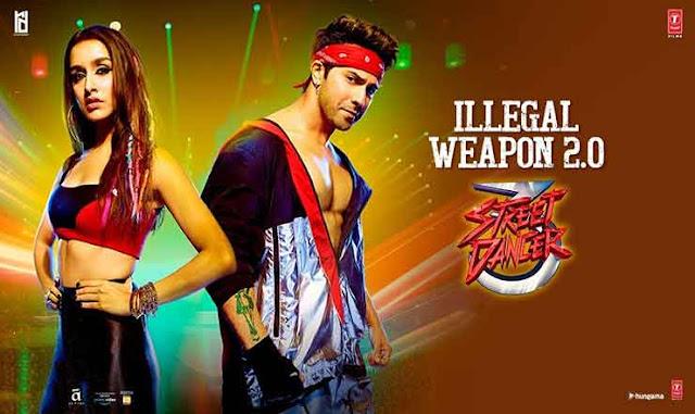 Illegal Weapon 2.0 Lyrics in Hindi - Street Dancer 3D