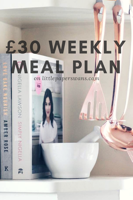 Feed your Family For Less, Healthy Weekly Meal Plan Under £30