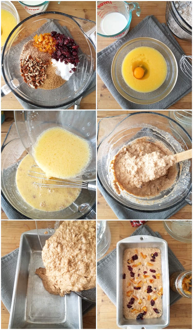 Prepación del pan o bizcocho de afrecho