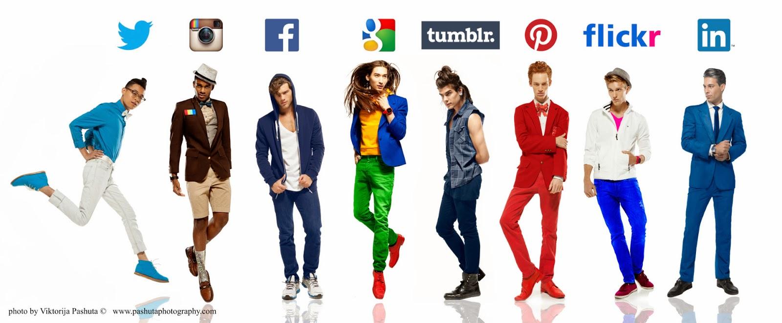 redes sociais homens