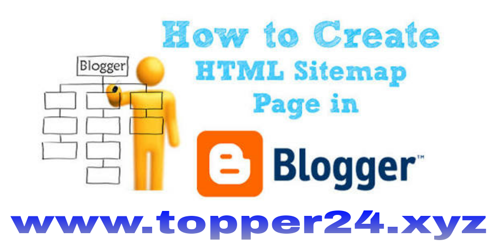 Html sitemap page code for blogger