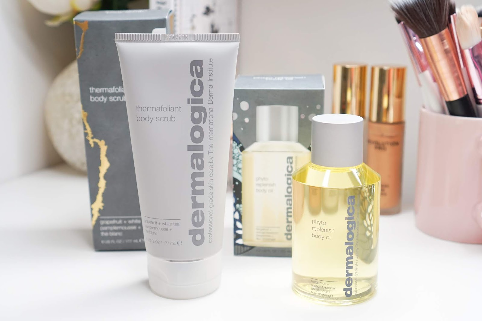Dermalogica_Thermafoliant_Body_Scrub_and_Phyto_Replenish_Body_Oil