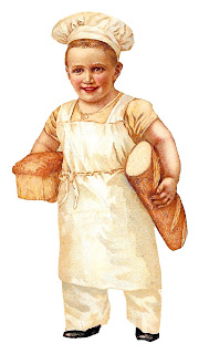 baker boy bread baking image vintage illustration digital clipart