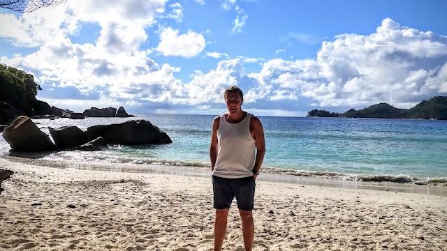 Alexander Tauscher am Strand