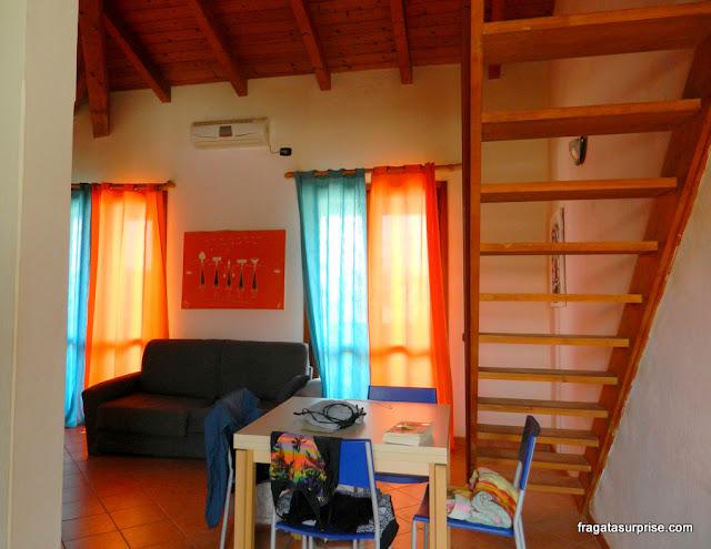 Sala de apartamento para aluguel de férias em Santa Maria, Ilha do Sal, Cabo Verde