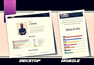 folio blogger template