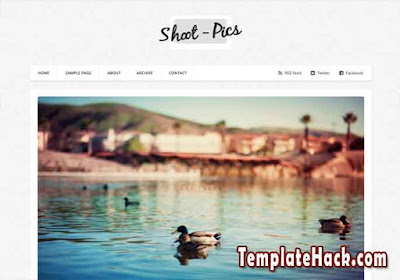shoot pics blogger template