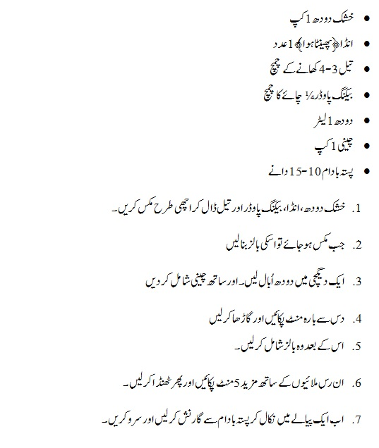 rasmalai recipe in urdu from powdered milk