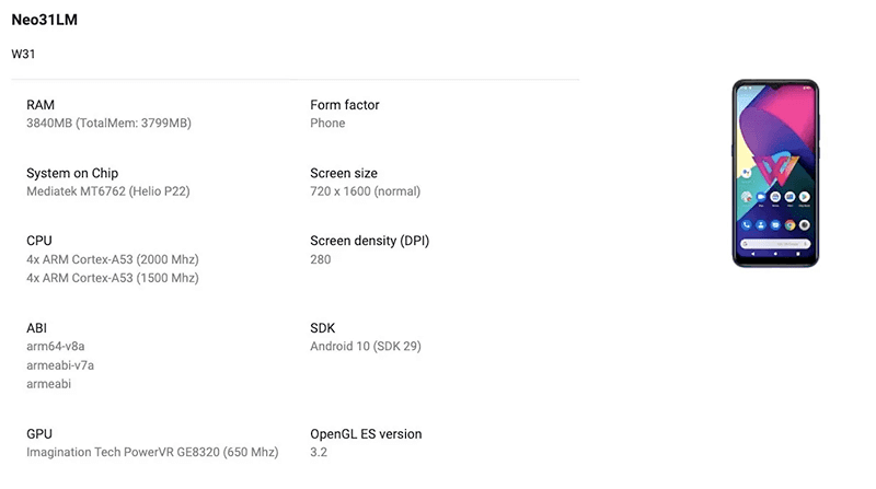Screenshot of the Google Play Console listing