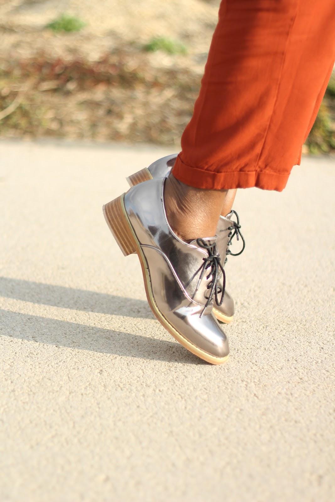 chaussure asos gris métalisé