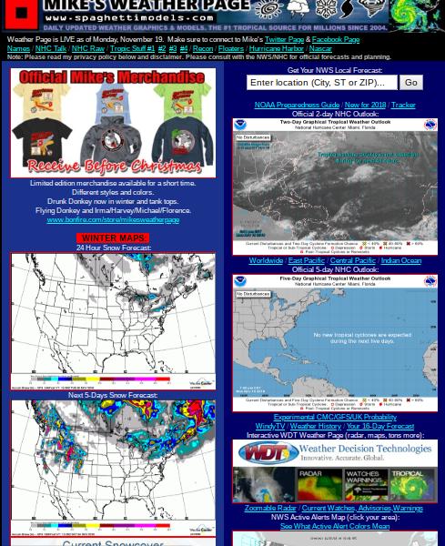 Hurricane Harbor: Thanksgiving Day Forecast     Frigid