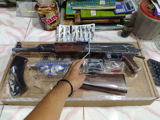 Review Unit Water Gel Gun (WGGGel Blaster) AK47 Merek Ren Xiang