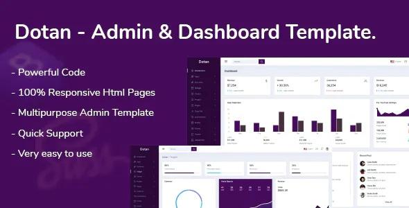 Best Admin & Dashboard Template