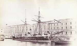 A photograph of HMS Wasp from 1880, four years before it sank off Tory Island