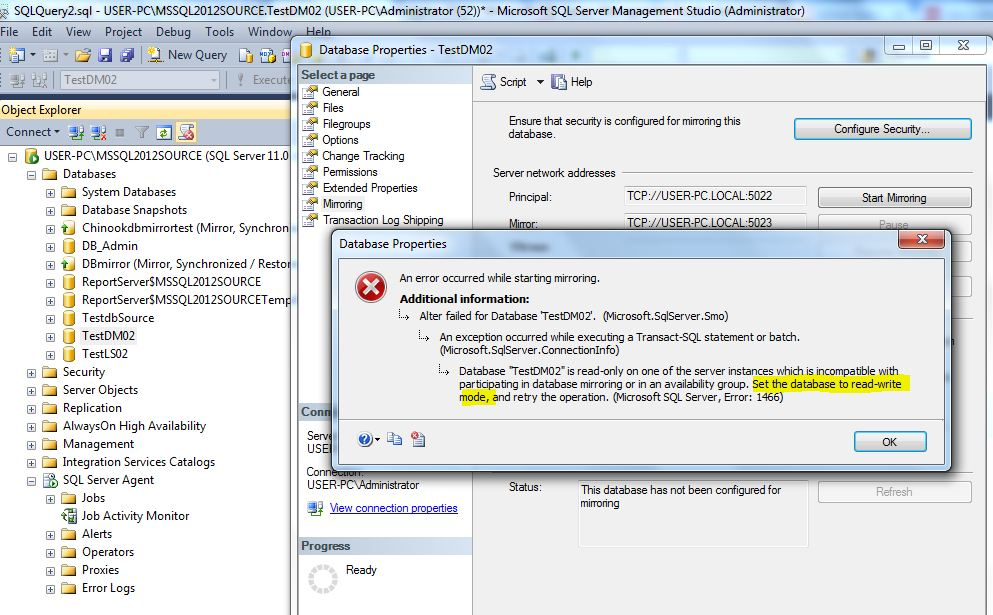 xbmc error sql attempt to write a readonly database