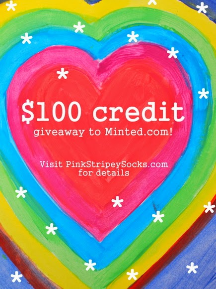 $100 giveaway to Minted.com