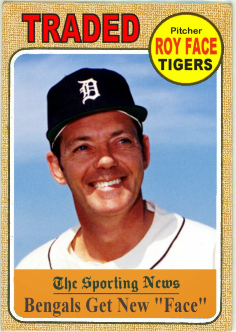 Cards That Never Were 1968 Detroit Tigers Topps Traded