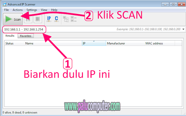 cara scan ip wifi dengan advanced ip scanner