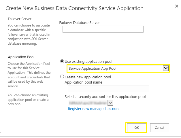 configure bdc service application sharepoint 2016