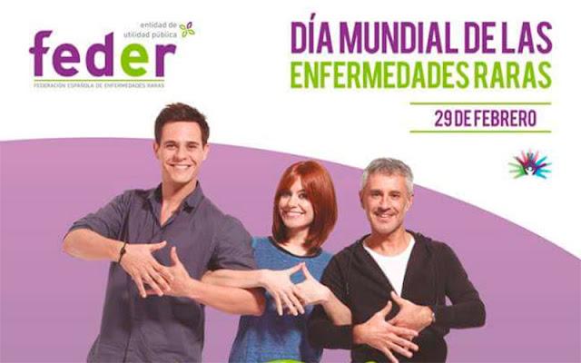 vista parcial del cartel FEDER dia mundial de las enfermedades raras