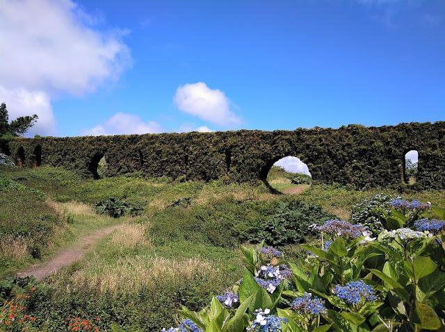 Muro das nove janelas en Sao Miguel (Açores)