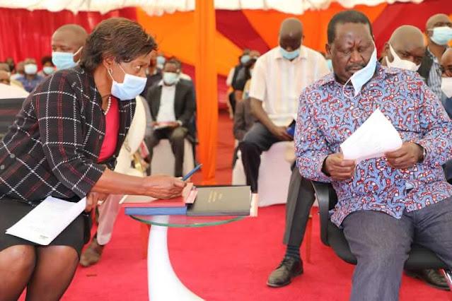 ODM leader Raila Odinga  and Kitui governor Charity Ngilu