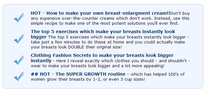 Bust secrets your Boost