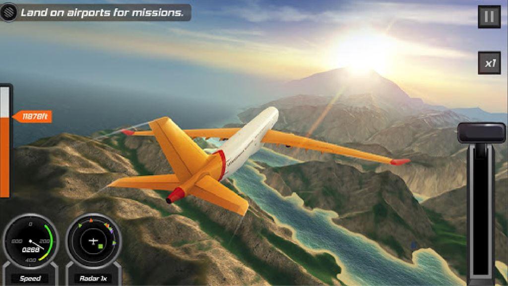 Game Pesawat Terbaik di Android Flight Pilot Simulator 3D Free