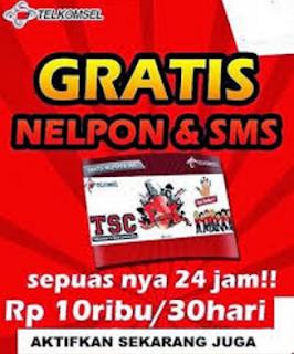 Nelpon Gratis Unlimited Telkomsel Simpati/As 30 Hari Nonstop Hanya Rp.10.000