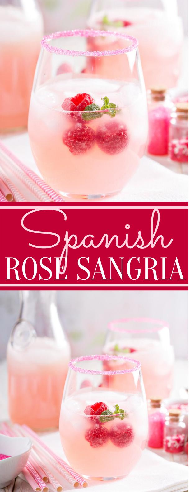 SPANISH ROSE SANGRIA #drinks #freshdrink