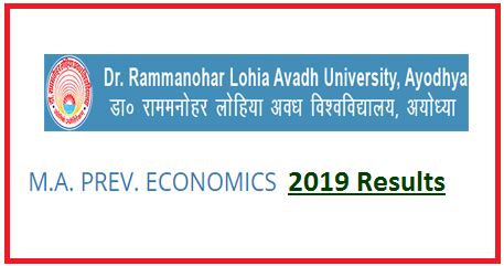RMLAU MA Economics Previous Result 2019
