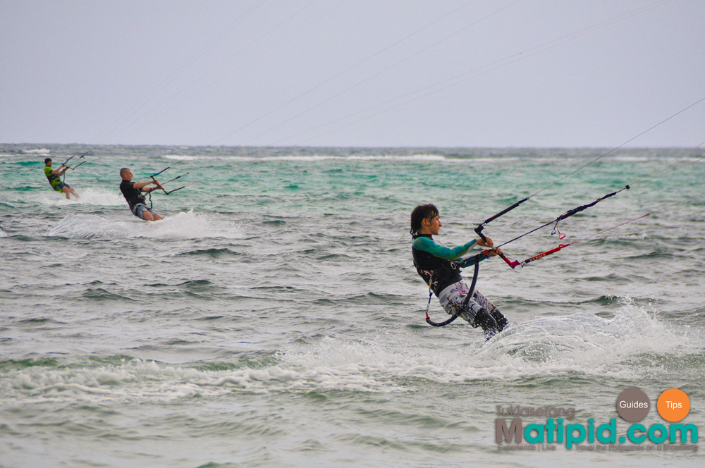 Kite surfing at Bulabog beach