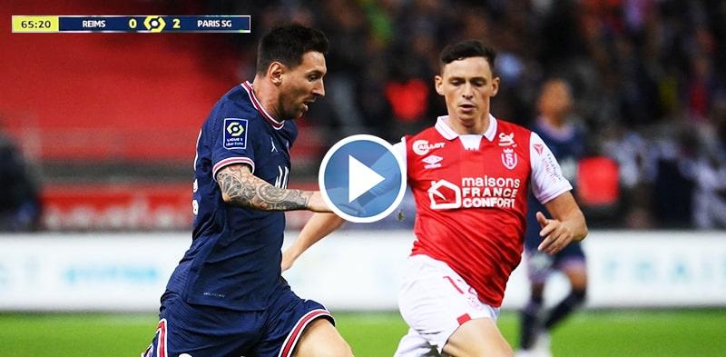 Lionel Messi vs Reims Debut for Paris Saint Germain 2021 HD