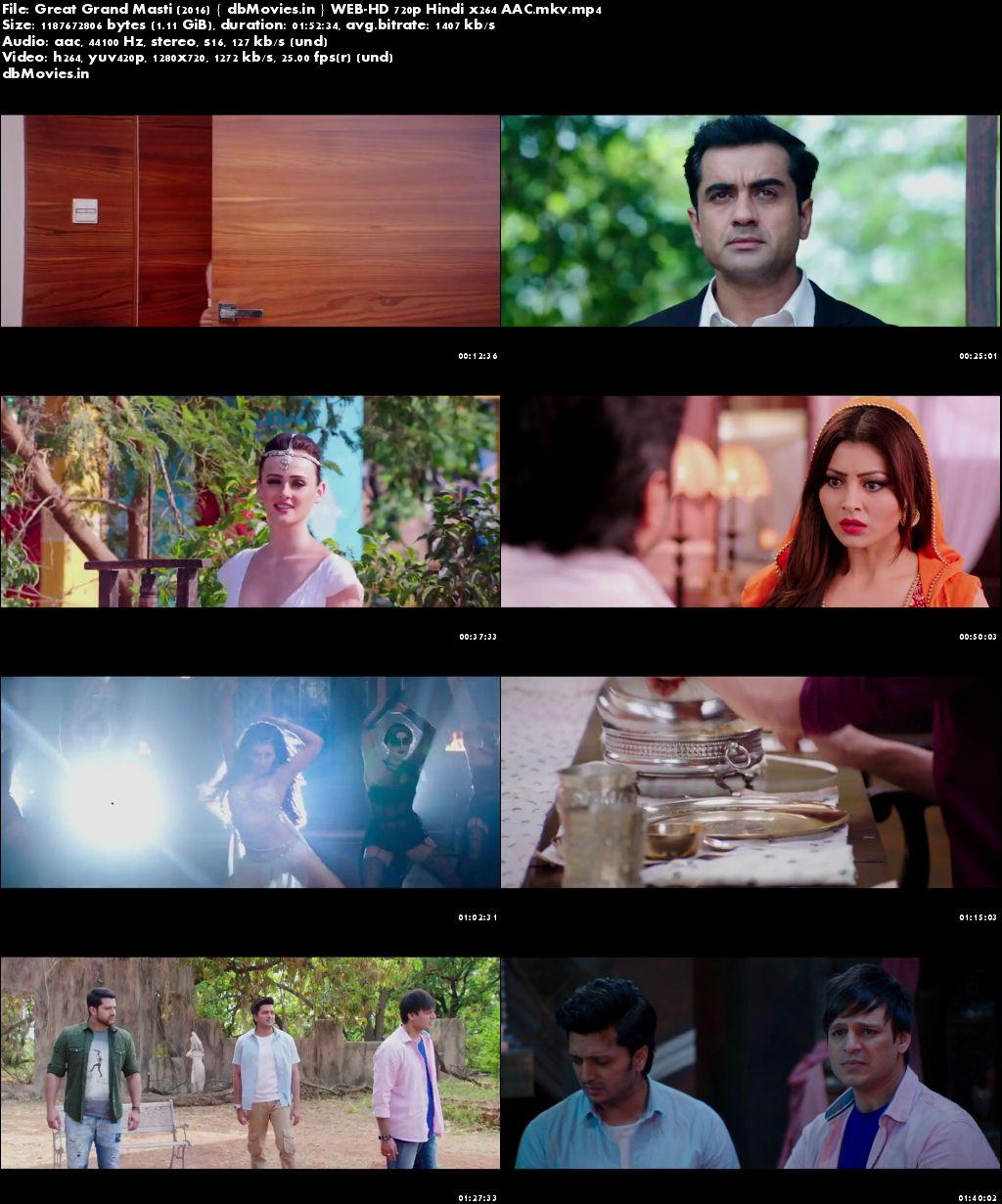 Screen Shots Great Grand Masti 2016 Full Movie Download HD 720p