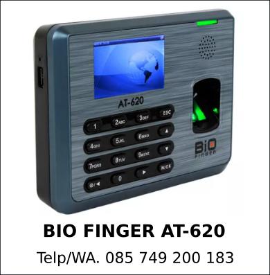 Jual Mesin Absensi Bio Finger AT-620 Asli