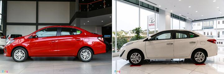 Mitsubishi Attrage CVT và Toyota Vios 1.5E CVT - giá rẻ có đủ hấp dẫn?