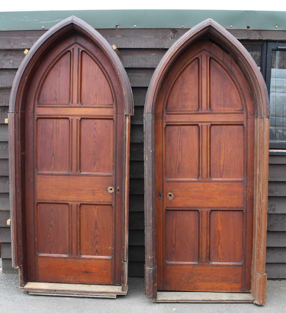 PUGHS ANTIQUES AND INTERIORS: Antique Oak Carved Gothic Doors