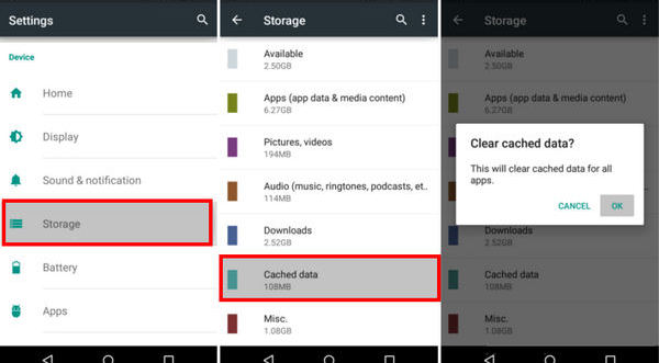 clear cache memory in android mobile to give better performance ..this is the  most important tips