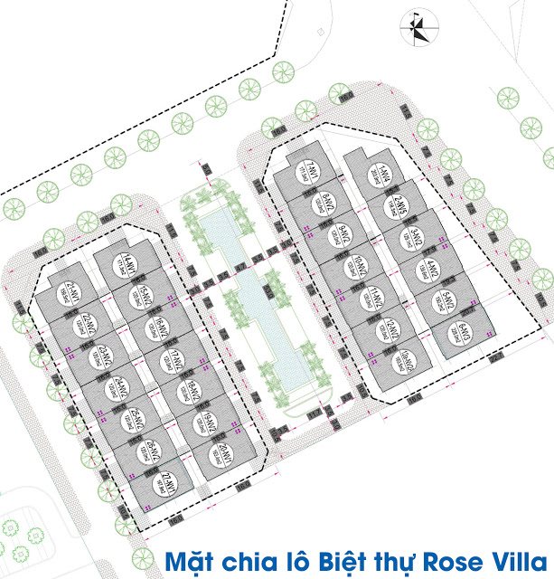 Mặt bằng tổng thể phân khu biệt thự Rose Villa EuroWindow River Park