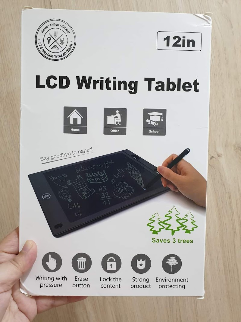 LCD writing tablet gadget tanpa guna kertas