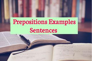 Preposition Examples Sentences