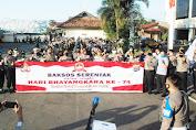 Pembagian 1000 Paket Beras pada Warga Masyarakat Kota Bandar Lampung, Rangkaian Hari Bhayangkara ke-74