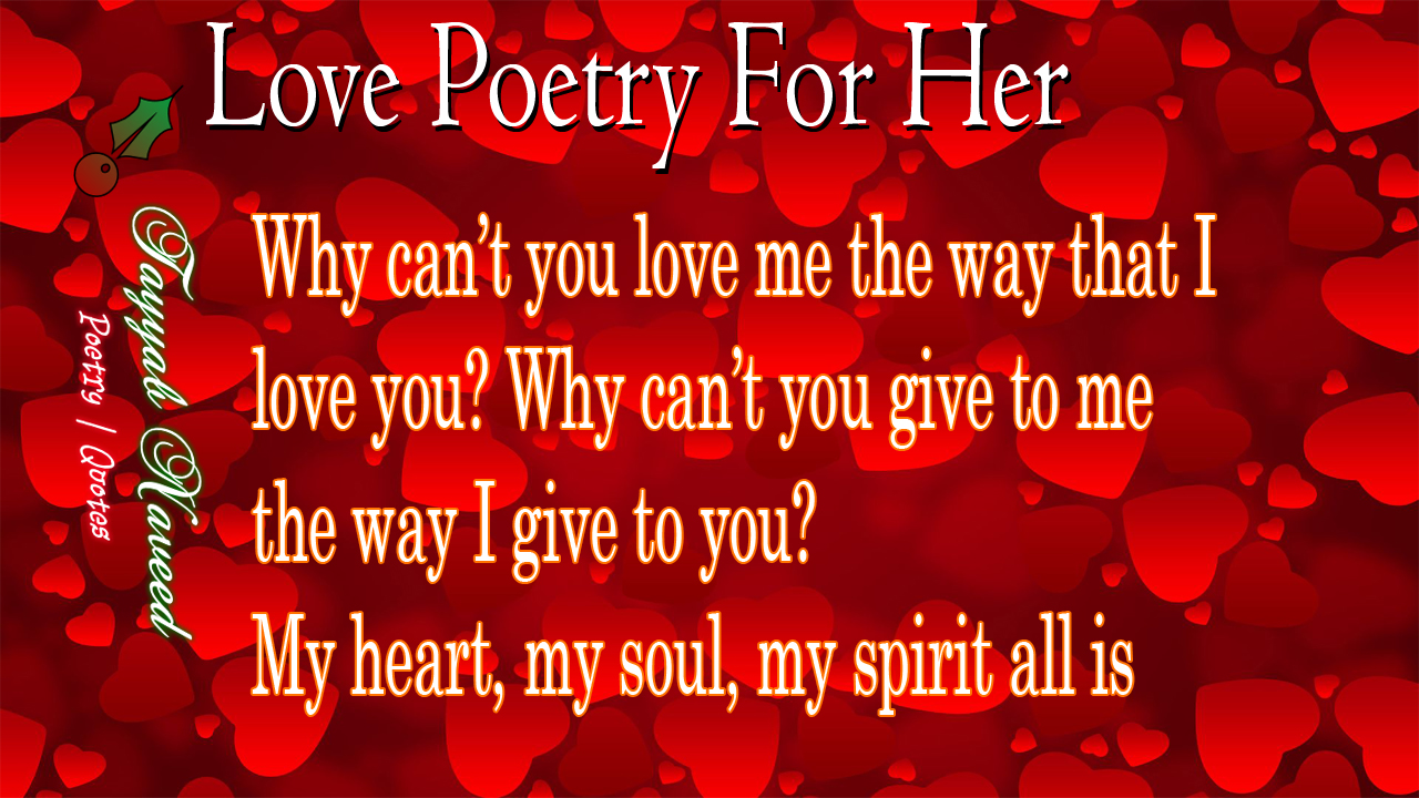 Love Poetry For Her