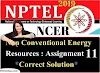 Non-Conventional Energy Resources - NPTEL Assignment 11 Answers