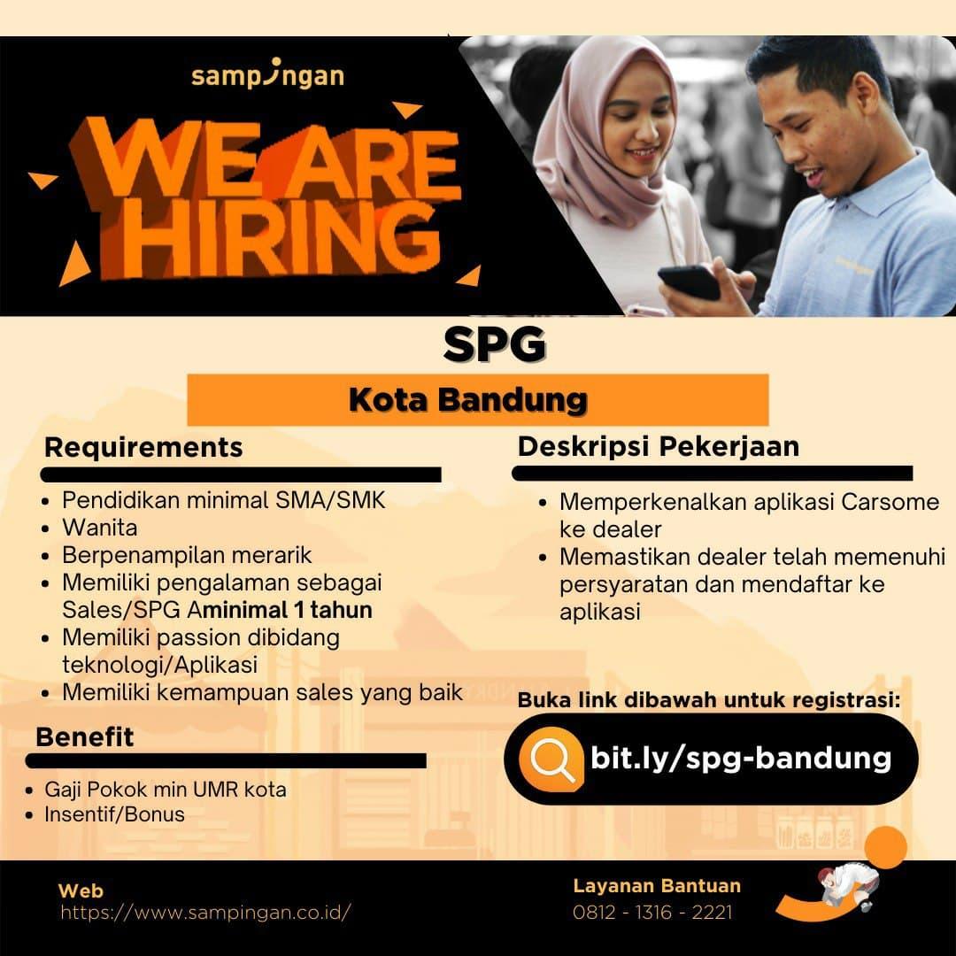 Lowongan Kerja SPG Sampingan Bandung Juni 2021
