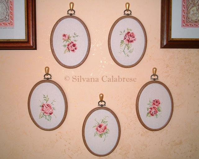 5 rose a punto croce Silvana Calabrese - Blog