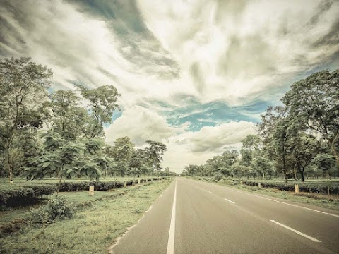 Road With Beautiful Sky HD Background Free Stock Image