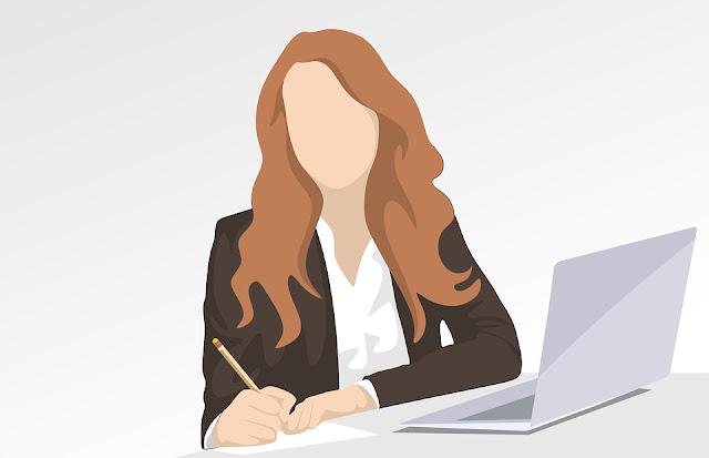 Gambar Vektor Wanita Kerja